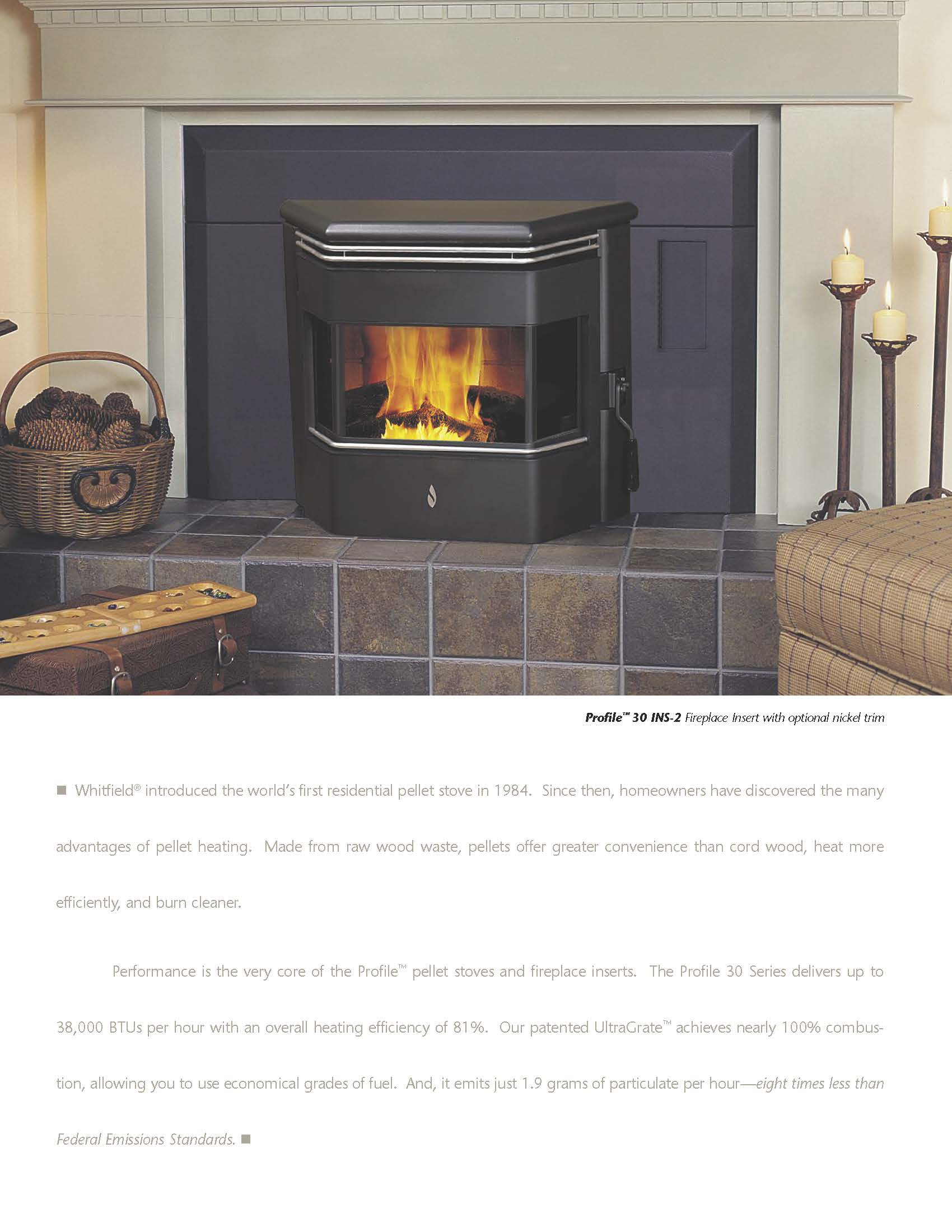 Strange Whitfield Profile 20 30 Pellet Stove Brochure Freestanding Home Interior And Landscaping Ologienasavecom