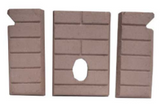 3-Piece cerra board panels (firebrick) 12146500