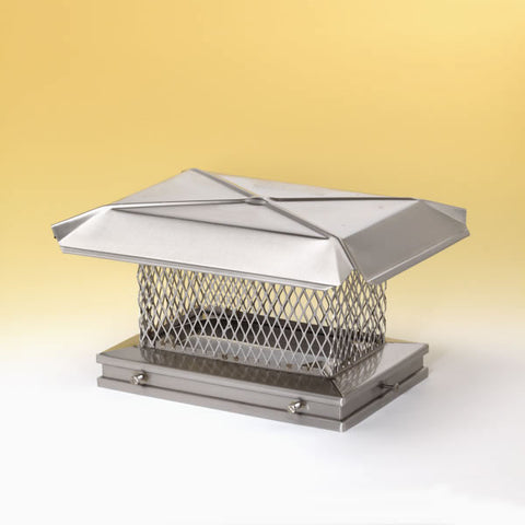 "13"" x 13"" Gelco Stainless Steel Chimney Cap, 5/8"", 18-ga Mesh, 2_13307"