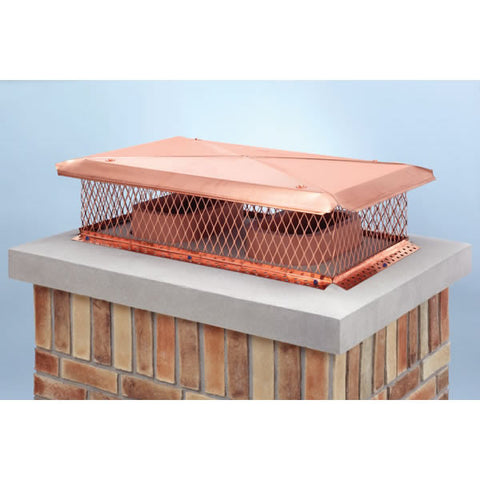 "17"" x 29"" Model C Gelco Copper Multi-flue Cap, 18-ga, 8"" High, 3_13630"