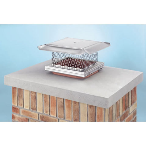 "8"" x 13"" HomeSaver Pro Stainless Steel Chimney Cap, 304-alloy, 1_14603"