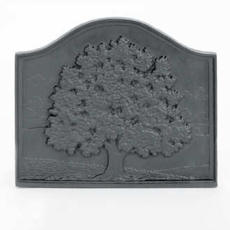 18x15.5 Small Oak Cast-Iron Fireback_61094