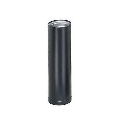 "8"" x 24""  Dura-Vent DVL Double-Wall Black Stovepipe_69168"