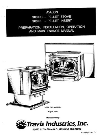 Avalon 900 1991 User Manual - Pellet_AV900um1991