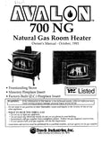 Avalon 700 1993 User Manual - Gas_700NG