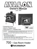 Avalon 700 1994 User Manual - Gas_Avalon700