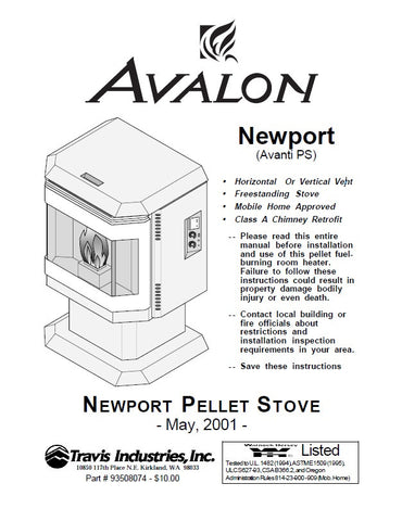 Avalon Newport 2008 User Manual - Pellet_AVNewportum2008