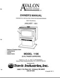 Avalon 1196 User Manual - Wood_Avalon1196