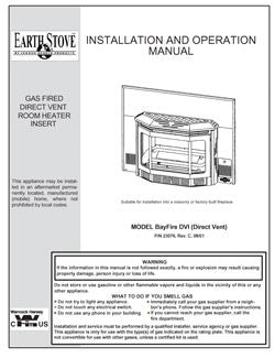 Earth Stove Bayfire DVI User Manual - Gas_ESBF