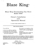 Blaze King 9000 FS User's Manual - Gas_BK9000