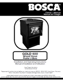 Bosca Gold 400 User's Manual - Wood_Bosca gold 400