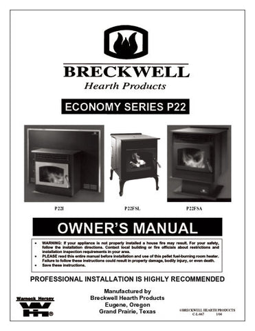 Breckwell P22 2003 User Manual - Pellet_bp22p2003
