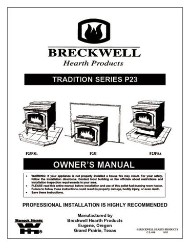 Breckwell P23 2002 User Manual - Pellet_bp23p2002
