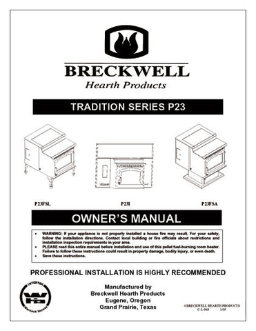 Breckwell P23 2005 User Manual - Pellet_bp23p2005