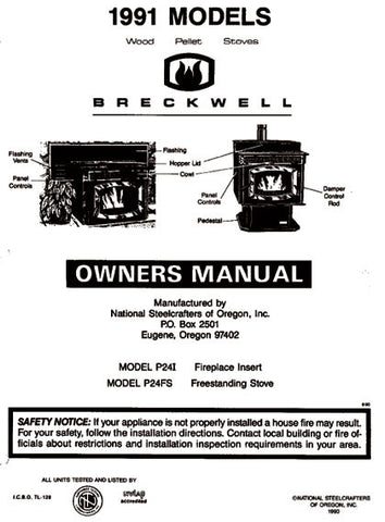 Breckwell P24 1991 User Manual - Pellet_bp24p1991