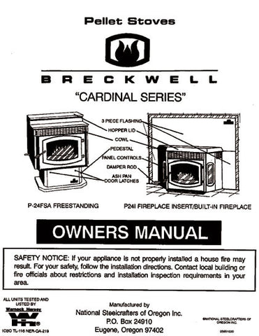 Breckwell P24 1995 User Manual - Pellet_bp24p1995