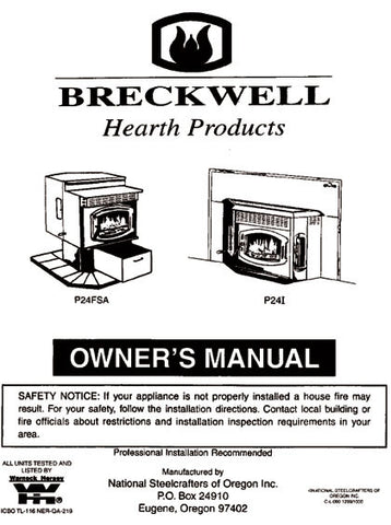 Breckwell P24 1999 User Manual - Pellet_bp241999