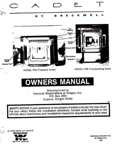 Breckwell P26/P32 1993 User Manual - Pellet_BP26P321993