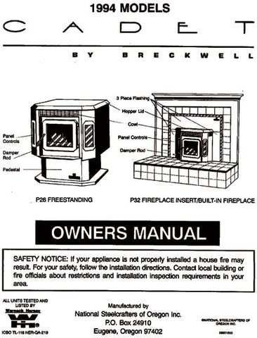 Breckwell P26/P32 1994 User Manual - Pellet_bp26p3294