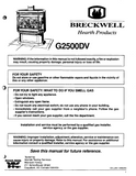 Breckwell G2500DV 1998 User's Manual - Gas_Breckwell G2500DV 1998