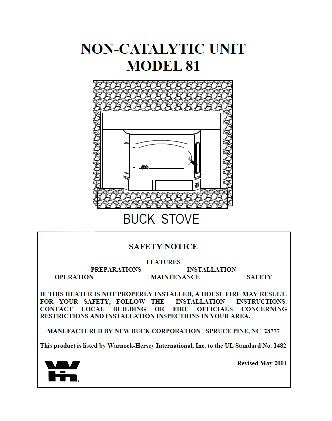 Buck Stove 81 User Manual - Wood_BSM81