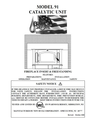 Buck Stove 91 User Manual - Wood_BSM91