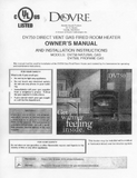 Dovre DV750 User Manual - Gas_DV750