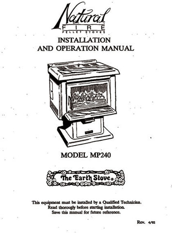 Earth Stove MP240 User Manual - Pellet_esMP240m