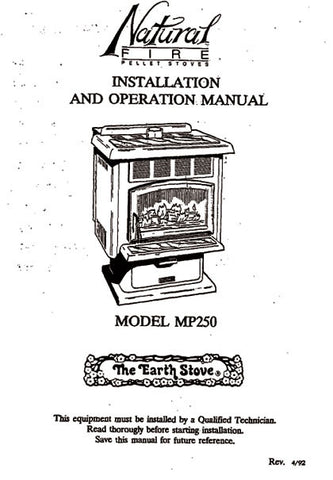 Earth Stove MP250 User Manual - Pellet_esMP250m
