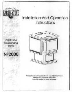 Earth Stove NF2000 User Manual - Pellet_esnf2000m