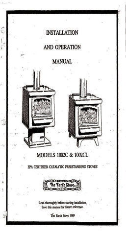 Earth Stove 1002C/1002CL User Manual - Wood_ES1002C-1002CL