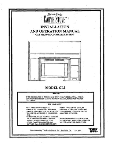 Earth Stove GLI User Manual - Gas_ESGLI
