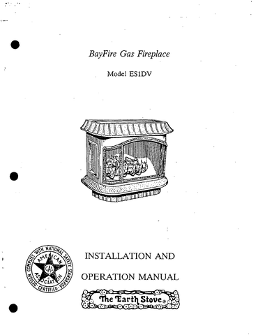 Earth Stove Bayfire ES1DV User Manual - Gas_ESBES1DV