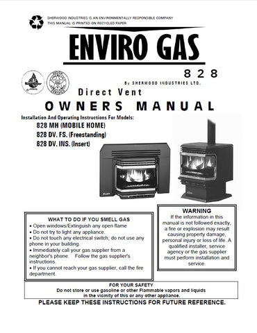 Enviro 828 Series User Manual - Gas_E828