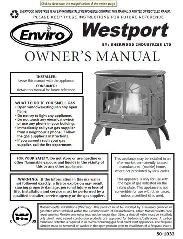 Enviro Westport User Manual - Gas_EWP