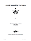 Flame Lieutenant II Wood Stove Manual_Flame Lieutenant II