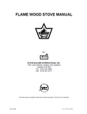 Flame Senator II Wood Stove Manual_Senator II