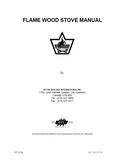 "Flame ""The Advantage I"" Wood Stove Manual_The Advantage I"