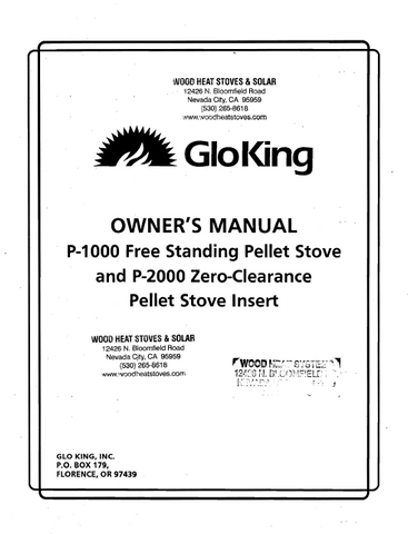 Country Flame Inglenook 24-N & 24-P User's Manual