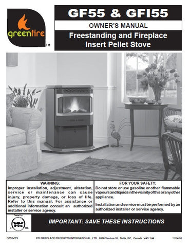 Regency GreenFire GF55 & GFI55 User Manual