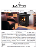 Hampton H27 DV User Manual - Gas_HH27DVFS