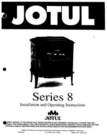Jotul Series 8 User Manual - Wood_Jotul8