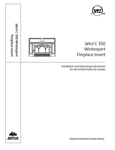 Jotul C350 Winterport User Manual - Wood_JC350W