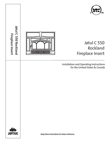 Jotul C550 Rockland User Manual - Wood_JC550R