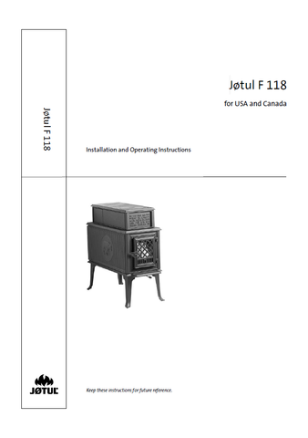 Jotul F 118 User Manual - Wood_JF118USA