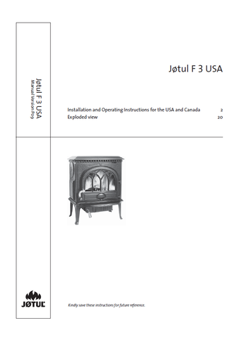 Jotul F 3 User Manual - Wood_JF3USA