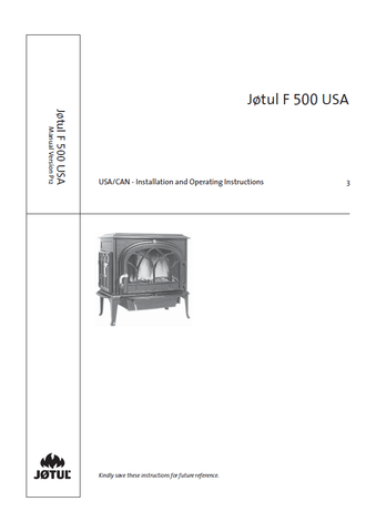 Jotul F 500 User Manual - Wood_JF500USA