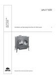 Jotul F 600 User Manual - Wood_JF600USA