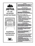 Jotul GF3 Allagash B-Vent User Manual - Gas_JGF3BV