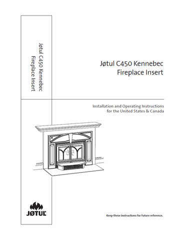 Jotul C450 KenneBec User Manual - Wood_JC450KB